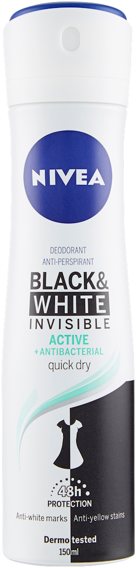 NIVEA DEO SPRAY DONNA INV. BLACK WHI